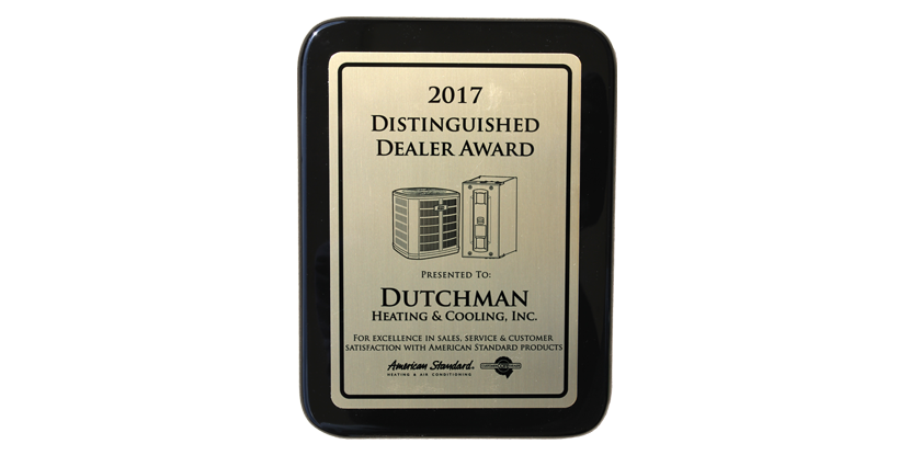 Dutchman Awards American Standard Chicago\'s Dealer of the Year in ...